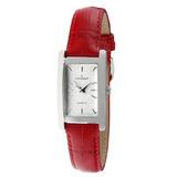 Peugeot Mujer Reloj 3008rd Rectangular Con Banda De Cuero 92a7da91d460