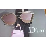 Óculos De Sol Rosê Crisdiorr Love Punch Espelhado Promoção 12488d1231
