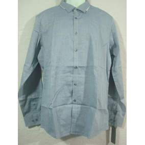 Camisa Marc Anthony Color Azul Talla L Stretch Extra Slimfit