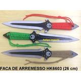 3 Facas De Arremesso Kunai Punhal Táticas Combat Ninja Hk663 0dcc3a0ee5b34
