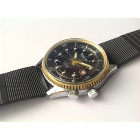 Reloj Antiguo Grand Prix De Luxe. A Cuerda. Buceo. Años 70