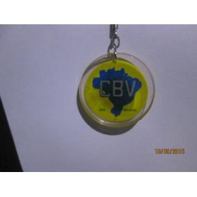 Chaveiro Acrílico Cbv Confederação Brasileira Vôlei Ball