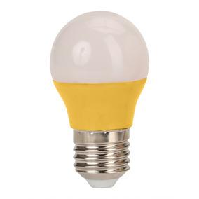 Kit 5 Lampadas Led 3w Colorida Amarela Bivolt Bulbo 3017