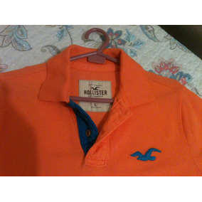 8aeccedfe Camisa Polo Hollister Original - Cor Laranja