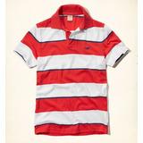 1a2174ec74 Hollister Camisa Polo Branca laranja Original Importada M