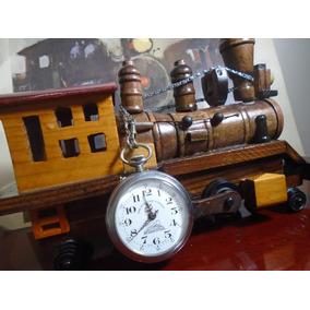 Relogio De Bolso Ferroviario Locomotiva - Relógios no Mercado Livre ... 265abe6f49