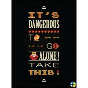 Quadro Poster The Legend Of Zelda Nintendo Com Moldura A3