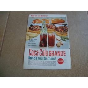 Propaganda Antiga Bebidas Coca Cola 1962 Refrigerante 6