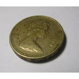 Moneda Gran Bretaña One Pound 1983 Reina Elizabeth 2