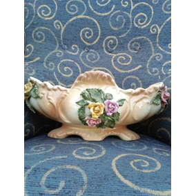 Antigua Frutera Jardinera Ctro.mesa. Cerámica Loza Porcelana
