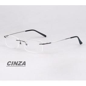 Armação Sem Aro Em Titânio Memory P/ Óculos De Grau Flexível