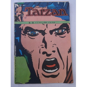 Tarzan Nª 35 - 5ª Série - A Porta Do Tempo - Ebal - 1980