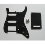 Pickguard Stratocaster Hss 11 Pernos, Negro, Nuevo.