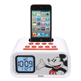 Despertador Mickey Mouse Dual Alarm Clock And 30-pin Ipod S