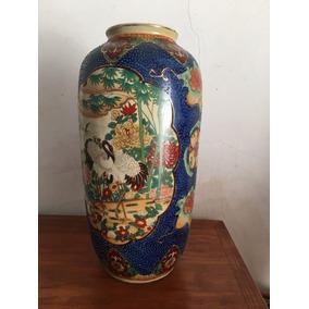 Jarron Porcelana China Antigüo Fileteado En Oro Canje Permut