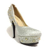 f2af8fe09 Sapato Feminino Festa Salto Alto Importado Luxo Brilho-c007