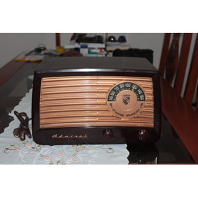 Rádio Admiral Almirante 6a22 (1950) Valvulado. Raridade!
