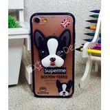 Capa Capinha Case iPhone 7 Bull Dog Terrier Cao Cachorro 3d