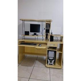 Computador Pc + Mesa De Computador (escrivaninha)