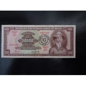 Nota Cédula 10 Cruzeiros Novos 1967 Santos Dumont Nacional 2