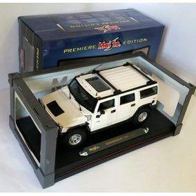 Carro Miniatura Hummer H2 Suv 1:18 Maisto Branco