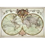 Lienzo Tela, Mapa Antiguo 1720, 70x100 Cm