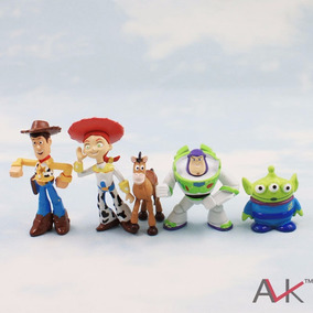 Toy Story Buzz/wood - 5 Bonecos Em Miniatura -pronta Entrega