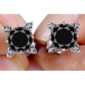 Brincos Solitario Diamante Negro Em - Joias e Relógios no Mercado ... 33db219c50