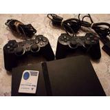Play Station 2 Slim Con Dos Controles Originales Sony
