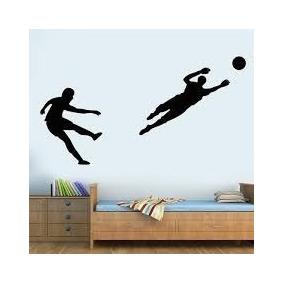 cbdaefbfe4 Adesivo De Parede Quarto Sala Esporte Futebol Gol Jogo