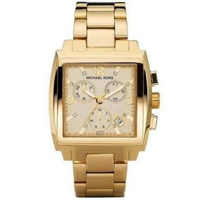 d17be5d6466 Relogio Michael Kors Mk 5330 (quadrado Dourado) - Relógios De Pulso ...