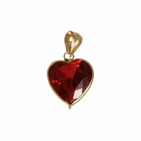 Pingente Coração Mulher Mãe Namorada Ouro18k Marcojoias