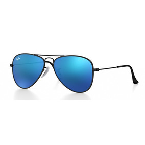 Óculos Ray-ban Rj 9506s 201 55 Azul E Preto Junior Solar c219243d4d