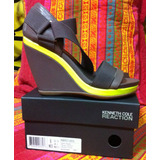 Kenneth Cole Zapato Tacón Tacones Sandalia Plataforma Mujer