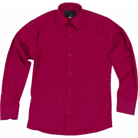 Camisa De Vestir Para Adulto Vino 34 A 42