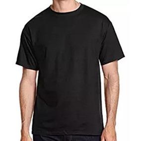 Franelas Unicolor Negras Azul 100%algodón Caballero Estampar