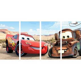 Cars - Poster Moderno De 4 Piezas (50x120cm)
