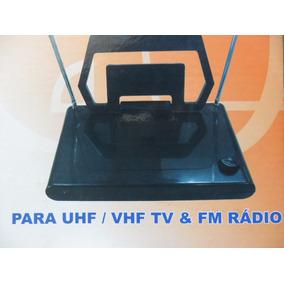 Antena Digital Interna An-014 P/ Uhf/vhf Tv & Fm Rádio