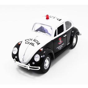 Miniatura Volkswagen Fusca Polícia Civil São Paulo 1967 1/18
