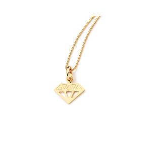 Pingente Diamante Folheado A Ouro - Joias e Relógios no Mercado ... 3a4548ae59