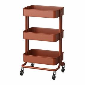 Carrito De Servicio Ikea Rojo/marrón (ladrillo) Raskog