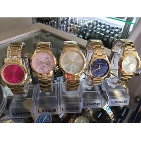 Relógio Feminino Banhado A Ouro 18 Frete Gratis