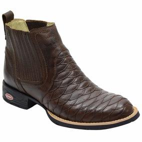Botina Escamada Em Couro Legitimo Josh 04 Beretta Botas - Sapatos no ... 6287f436fec