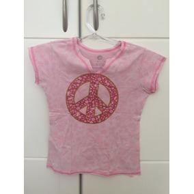 Lindinha!! Camiseta Símbolo Da Paz Kids - 10 Anos