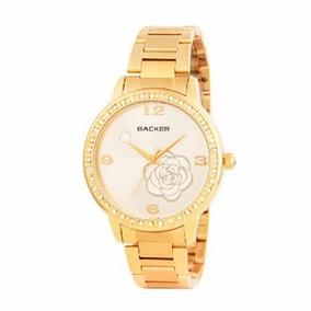a392177fe7b Relogio Backer Dourado Masculino - Relógio Masculino no Mercado ...