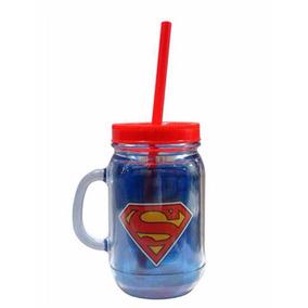Copo Caneca Superman -liga Da Justiça-com Canudo Licenciado