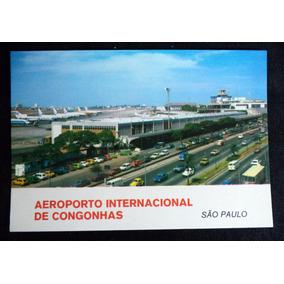 Cartão Postal Aeroporto Internacional De Congonhas Sp
