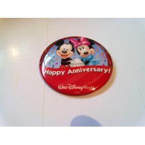 Boton Walter Disney World Happy Annivesary Mickey E Minie