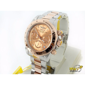 Invicta Feminino Speedway 6933 Banh Ouro Rose Original 44mm
