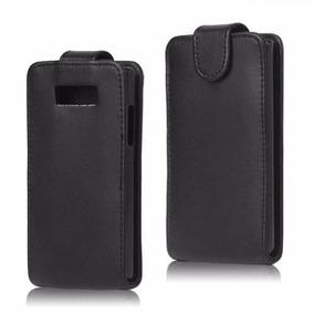 Lg L7 Funda Vertical Flip Cover Protector Con Broche Negro